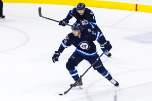 Winnipeg Jets forward Mark Scheifele (55). SHAWN COATES PHOTO