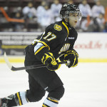 Anthony DeAngelo of the Sarnia Sting. Photo by Aaron Bell/OHL Images
